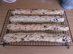 Biscotti Logs Cooked