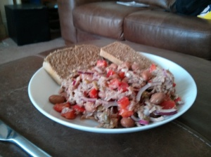 Potato Bread with Tuna Salad