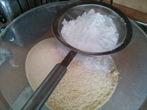 Sieve icing sugar