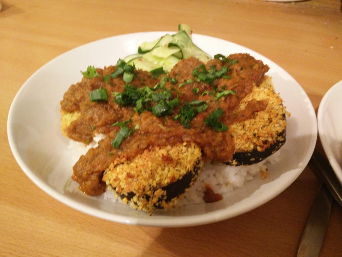 Aubergine katsu curry also pork bulmer food for Aubergine cuisine